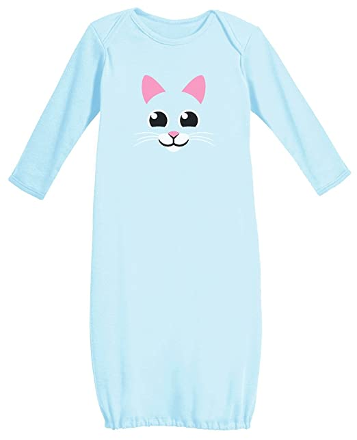 Amazon.com: Cat Face - My Little Kitty Night Gown Infant Cute Baby ...