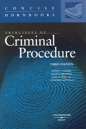 Principles of Criminal Procedure (Concise Hornbook)