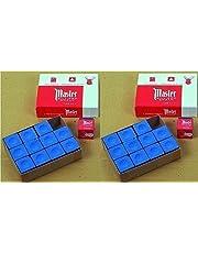 GamePoint Origineel USA biljartkrijt master, 12 stuks in doos (blauw/groen/rood/grijs) naar keuze
