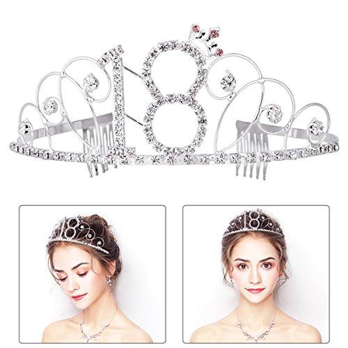 Birthday Crown Frcolor Rhinestone Birthday Tiara Happy 18th Birthday