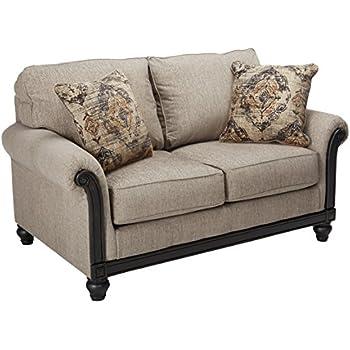 Terrific Amazon Com Harleson Wheat Traditional Loveseat Vintage With Machost Co Dining Chair Design Ideas Machostcouk