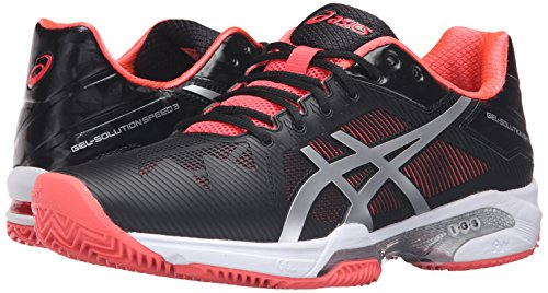 Silver Clay M Pink 7 Tennis Women's US Black ASICS Speed Shoe 3 Gel Solution Diva zCXOUq