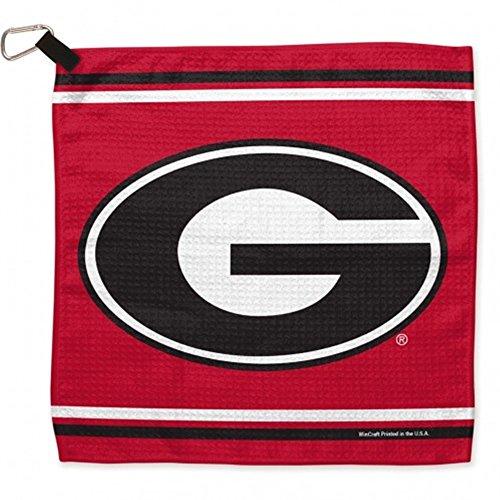 Georgia Golf Towel (NCAA University of Georgia Waffle Towels, 13 x 13