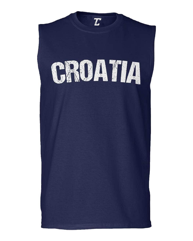 Soccer Futbol Sports Mens Sleeveless Shirt Tcombo Croatia