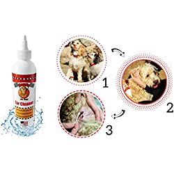 Dog & Cat Ear Cleaner & Infection Treatment Prevention, Pet Ear Solution, Stops Itching, Head Shaking, Discharge & Odor, Ear Mites, Pet Ear Wash & Wax Remover, Symptom Relief By Doggie Pit Stop 8 oz