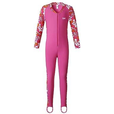 fada7f9147847 BIKMAN UPF 50+ Long Sleeve Sunsuit Girls Sun Protection One Piece Swimsuit ( 2-