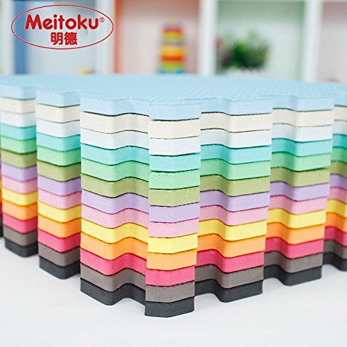 9927ae7a944 Bordes rectos para alfombra de goma EVA. 12 piezas. Crema. Meitoku