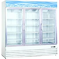 Omcan 50052 Three Glass Door Refrigerator