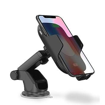 XXFFP Cargador inalámbrico para iPhone XS MAX XR X 8 Samsung S9 S8 Note 9 8 Soporte automático de Carga rápida para automóvil Soporte para teléfono