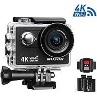 Muson MC2 Action Camera 4K WiFi Sports Camera (Black)