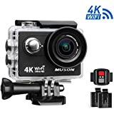 Muson MC2 Action Camera 4K WiFi Sports Camera DV Recorder 2.0 Screen 12MP 170 Degree Wide Angle 30M Waterproof With 2.4G Remote Control and 19 Accessories Kits