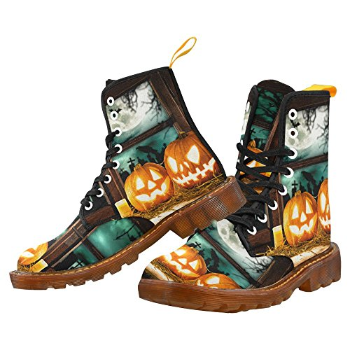 d story shoes happy halloween pumpkin lace up martin boots for women halloween5 7ew7m