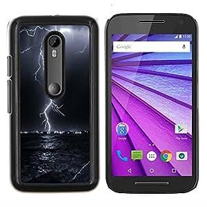 """Be-Star Único Patrón Plástico Duro Fundas Cover Cubre Hard Case Cover Para Motorola Moto G (3rd gen) / G3 ( Trueno Tormenta eléctrica Cielo Nocturno Negro"""" )"""