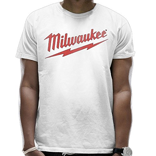 Addie E. Neff Power Tool Logo Milwaukee Father's Day Gift Unisex Fashion T-shirt Tee Tops For Men's White Medium