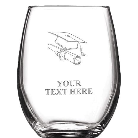 Amazon Com Graduation Personalized Wine Glass 9 Oz Custom Soiree