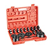 OrionMotorTech 23-Piece FWD Front Wheel Drive Bearing Adapters Puller Press Replacement Installer Removal Tool Kit