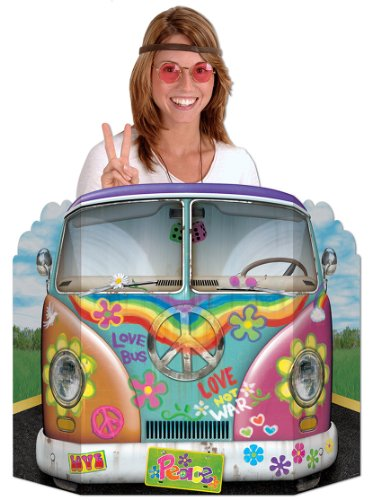 Hippie Bus Photo Prop Party Accessory (1 count) (1/Pkg)]()