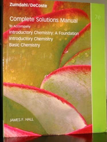 complete solutions manual to accompany introductory chemistry 7th rh amazon com AP Chemistry Zumdahl 7th Edition answers zumdahl chemistry 7th edition