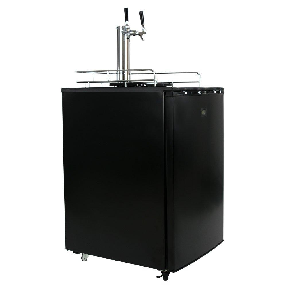 KeggerMeister KM5600BK Dual Tap Pour Kegerator Keg Beer Dispenser - Kegorator