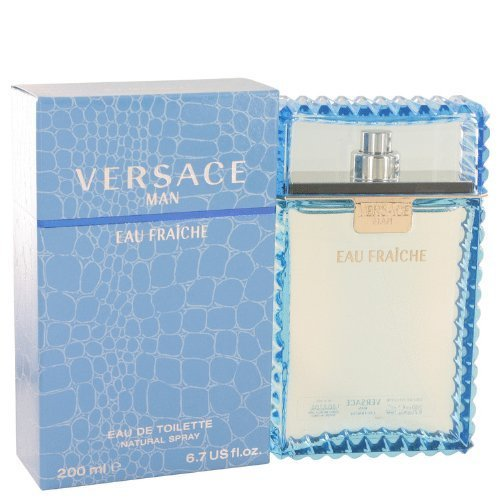 (Versace Man by Versace - Eau Fraiche Eau De Toilette Spray (Blue) 6.7 oz)