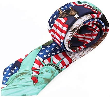 Corbata de Hombre Bandera Americana Corbata de Cuello Cuello de ...