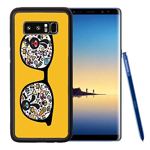Liili Premium Samsung Galaxy Note8 Aluminum Backplate Bumper Snap Case Retro sunglasses with strange monsters reflection in it IMAGE ID - Sale For Sunglasses Philippines