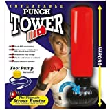 Zizzi Punch Tower Punching-ball antistress gonflable sur pied + pompe