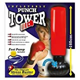 New Inflatable Stress Punch Tower Free Standing Box Boxing Fun Workout Bag + Pump Shopmonk