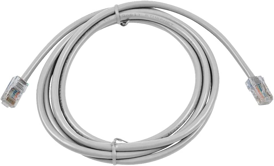 Buhbo 7ft Cat6 CMR Riser Rated Ethernet Network Non Booted Cable Gray 10-Pack