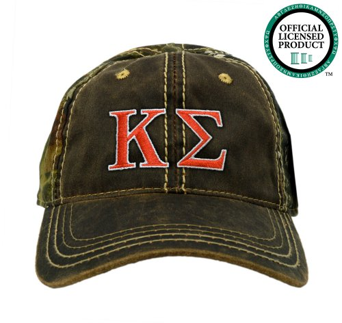 Kappa Sigma (Kappa) Embroidered Camo Baseball Hat, Various Colors