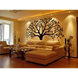 LUCKKYY Large Family Photo Tree Wall Decor Wall Sticker Tree Branch Family Like Branches On A Tree Wall Decorations for Living Room (Black)