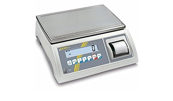 Balanza de mesa [Kern GAB 30 K de 4P] de control y portionier Báscula con impresora integrada, rango de pesaje [Max]: 30 kg, Lectura [D]: 0,2 g, ...