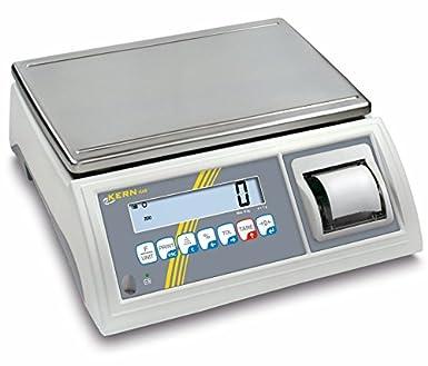 Balanza de mesa [Kern GAB 30 K de 4P] de control y portionier Báscula