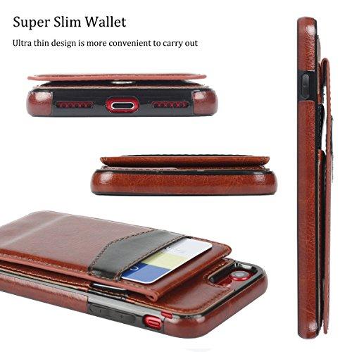 c8541029b35 Amazon.com  Basecent iPhone 8   iPhone 7 Wallet Case for Men ...