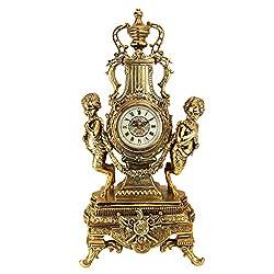 Design Toscano Grande Chateau Beaumont Clock in Antique Faux Gold