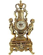 Design Toscano Grande Chateau Beaumont Mantel Clock, 61 cm, Polyresin, Gold