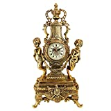 Design Toscano Grande Chateau Beaumont Clock in Antique Faux Gold