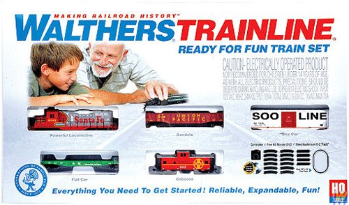 (Walthers Trainline(R) HO Scale Ready-for-Fun Train Set - Santa Fe)