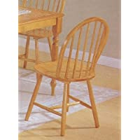 Set of 4 Oak Finish Windsor Country Style Wood Dining Chair/Chairs