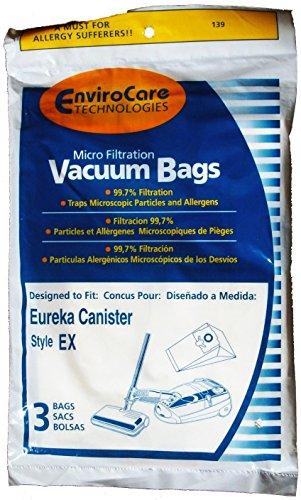 Eureka EX Canister Micro Filtration vacuum bags - Generic - 3 pack - Bags 3 Pack Generic