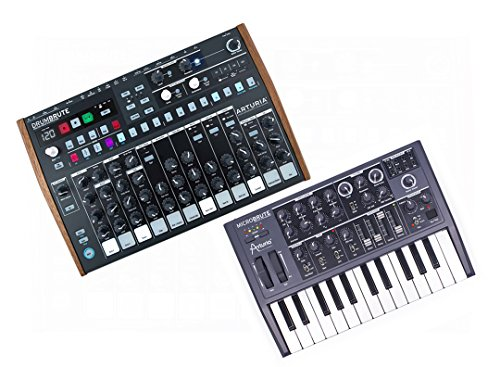 Arturia DrumBrute Analog Drum Machine with 64 Patterns/64 Steps w/ Arturia MicroBrute Analog Synth by Arturia