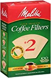 2 paper cone coffee filters - Melitta Cone Coffee Filters, Natural Brown, No. 2, 100-Count Filters (Pack of 6)