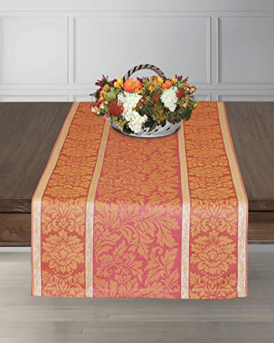 Armani International Galante 90-inch Table Runner Linen Cotton, Crafted in Europe ()