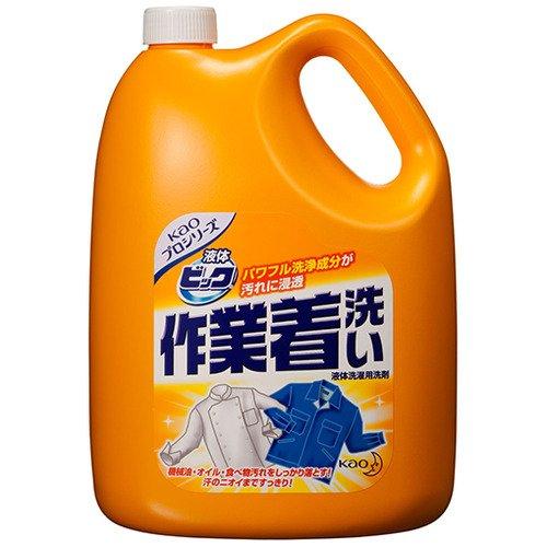 [花王 9662704] (まとめ)液体ビック作業着洗い 業務用 4.5kg 4個 B00MINKCAA