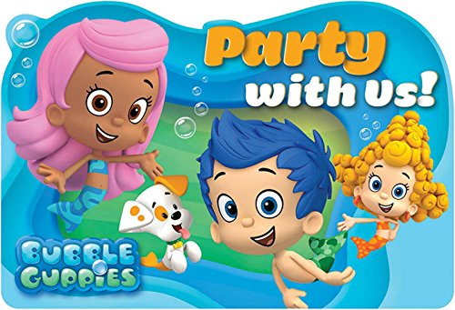 [Aqua Awesome Bubble Guppies Birthday Party Postcard Invitations, Paper, 4
