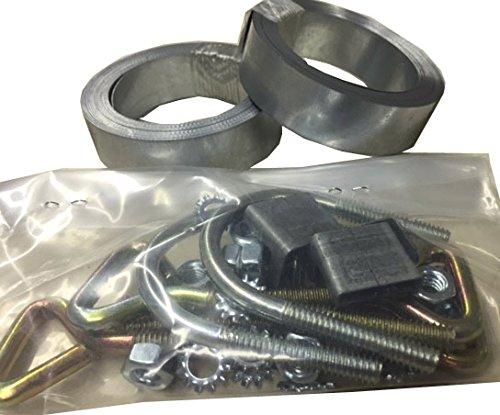 Galvanized Steel Straps - Easy Up Chimney Mount Repair Kit - 24' Galvanized Steel Straps & Hardware Only