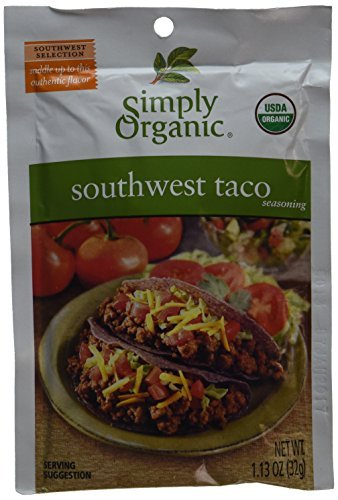 Simply Organic Southwest Taco Seasoning Mix -- 1.27 oz Each [Health and Beauty] by Frontier