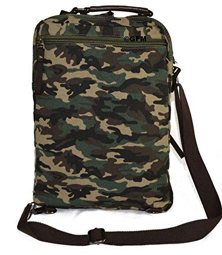 Lienzo bolso bandolera de boda de estilo clásico bolso bandolera para - School, college, Uni, oficina, viajar o para el Casual para accesorios del bebé X16 Backpack - Camouflage (06CMFLG)