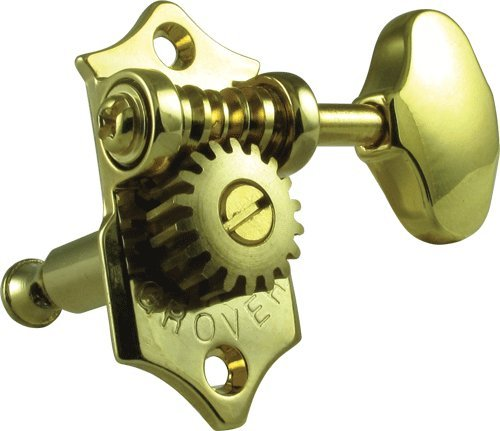 Grover V97-18G Sta-Tite Tuners, 18:1 Gear Ratio, 3-Per-Side, Vertical, Gold