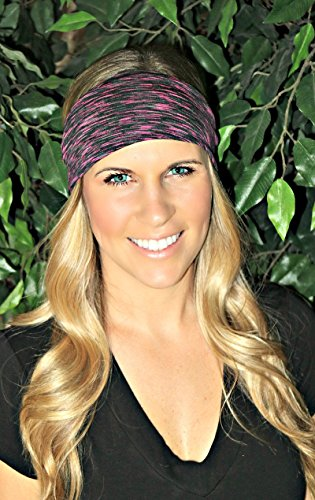 RAVEbandz Fashion Stretch Headbands Non Slip Wide Hippie Sports & Athletic Headbands for Women & Girls